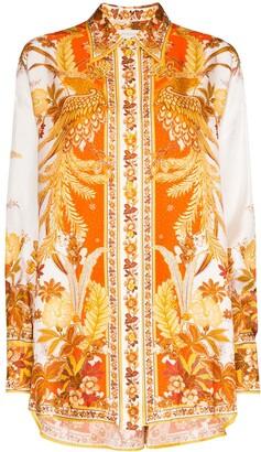 Zimmermann Floral-Print Silk Shirt