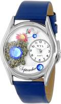 Whimsical Watches Women's S0910009 Imitation Birthstone: September Royal Blue Leather Watch