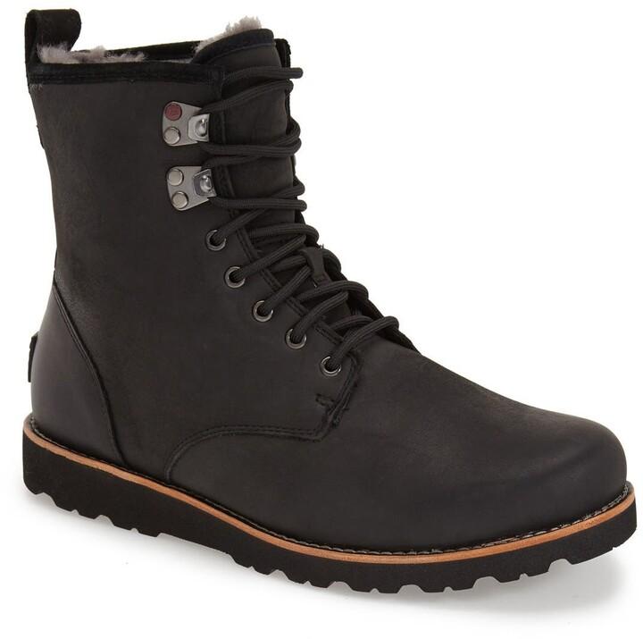 666b22ccc74 Hannen Plain Toe Waterproof Boot with Genuine Shearling