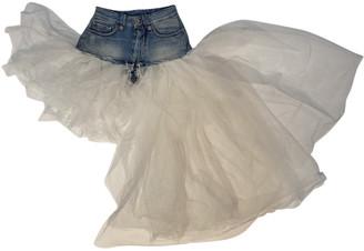 Unravel Project Blue Cotton Shorts