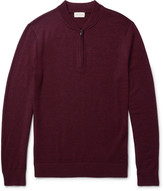 Club Monaco Mélange Merino Wool Half-Zip Sweater