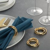 Crate & Barrel 3-Ring Gold Napkin Ring