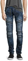 PRPS Demon Moto Slim-Straight Jeans, Krill Dark Wash (Indigo)