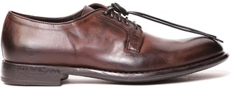 Doucal's Doucals Dark Brown Leather Laced Up Shoe