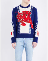 Gucci Tiger-print Wool Jumper