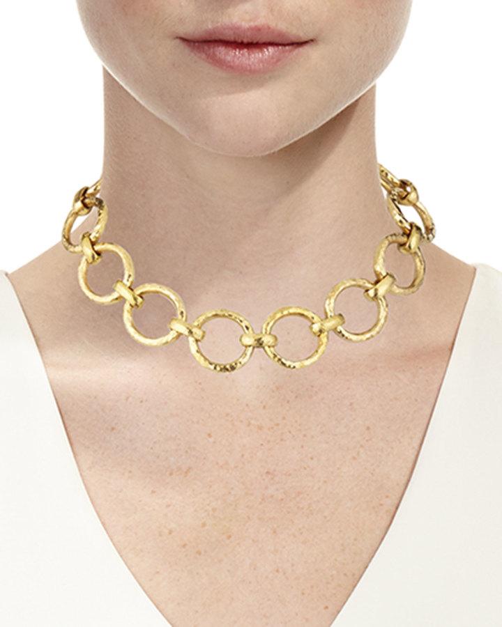 Ashley Pittman Daima Bronze Link Necklace