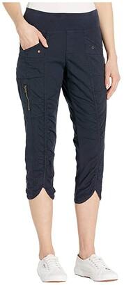 XCVI Iris Crop Pants in Stretch Poplin (Hawser Pigment) Women's Casual Pants