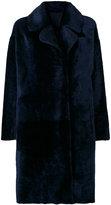Drome furry detail coat - women - Lamb Skin/Leather - S