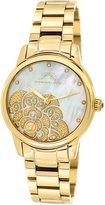 Porsamo Bleu Juliet Stainless Steel Gold Tone Women's Diamond Watch 701BJUS