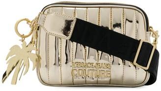 Versace Quilted-Effect Logo Shoulder Bag