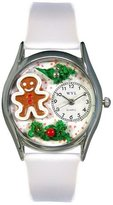 Whimsical Watches Women's S1220006 Christmas Gingerbread White Leather Watch