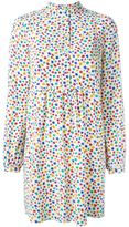 Saint Laurent star print shirt dress - women - Silk - 42