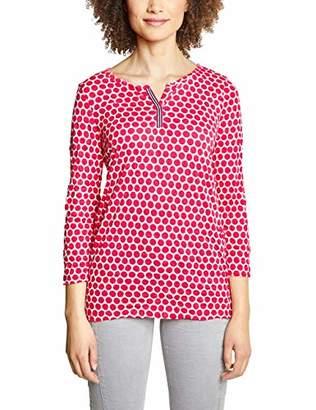 Street One Women's 313277 Longsleeve T-Shirt, Multicolour (deep Blue 212), 12 (Size:)