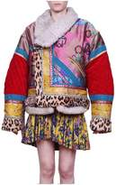Etro Patchwork Shearling Coat