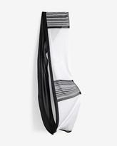 White House Black Market Black & White Infinity Scarf