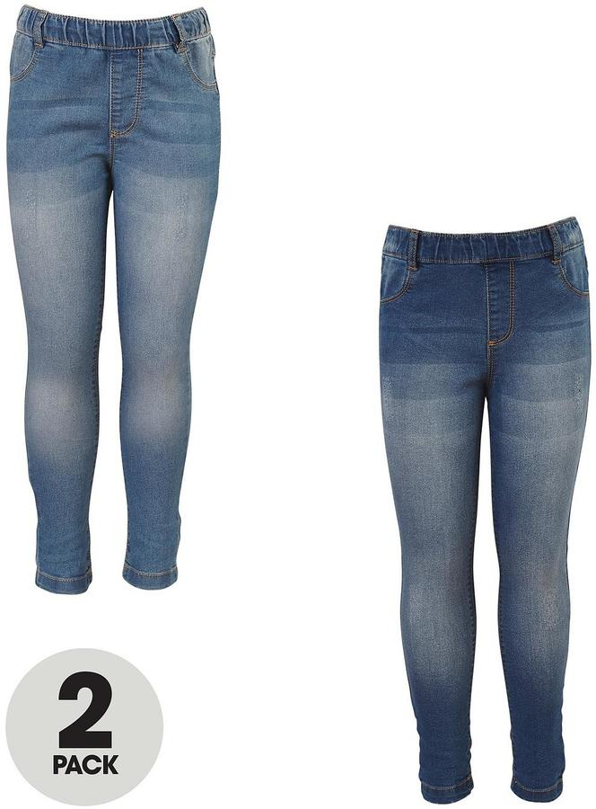 Very Girls Mid Rise Distressed Jeggings (2 Pack)