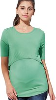 Sweet Mommy Maternity and Nursing Bamboo Layered Top KHM