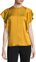 WORTHINGTON Worthington Short Sleeve Woven Blouse-Talls