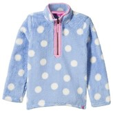 Joules Pale Blue Spot Half-Zip Fleece