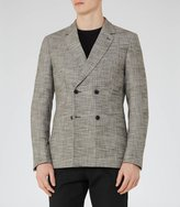 Reiss Reiss Dalton B - Houndstooth Blazer In Grey, Mens