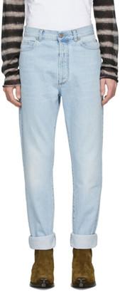 Balmain Blue High-Waisted Jeans