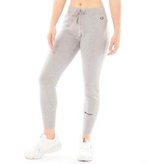 Champion Womens Logo Cuffed Sweat Pants Grey Marl