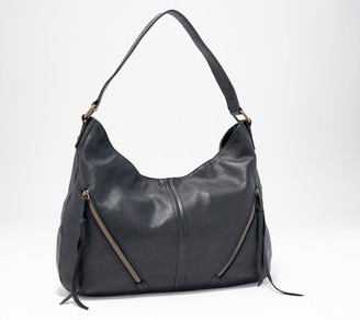 American Leather Co. Leather Hobo with Zip Detail - Ripley