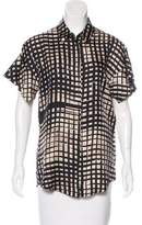 Vionnet Silk Short Sleeve Top