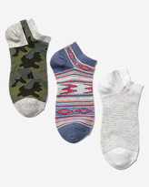 Eddie Bauer Women's Low-Profile Patterned Socks - 3-Pack