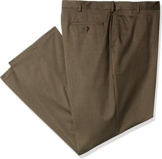 Haggar Men's Big-Tall Premium Stretch Solid Classic Fit Plain Front Pant