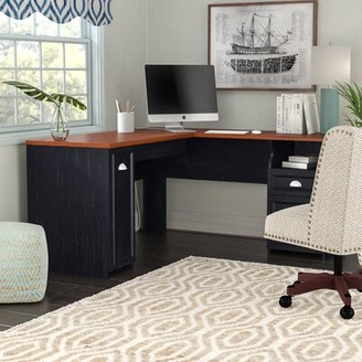 Three Posts Niles L-Shape Desk Finish: Antique Black