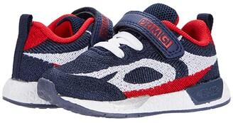 Primigi 64476 (Toddler/Little Kid) (Navy/Red) Boy's Shoes