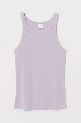 H&M Ribbed Tank Top - Purple