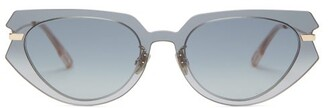Christian Dior Diorattitude2 Cat-eye Acetate Sunglasses - Womens - Grey