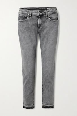 Rag & Bone Dre Distressed Boyfriend Jeans - Gray