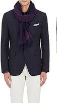 Drakes Drake's Men's Reversible Wool-Angora Scarf-PURPLE