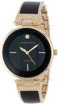 Anne Klein Women's AK/1414BKGB Diamond-Accented Bangle Watch