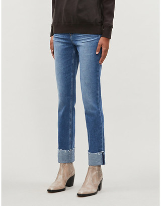 Paige Cindy slim high-rise stretch-denim jeans
