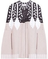 Peter Pilotto Knitted Wool-blend Cape