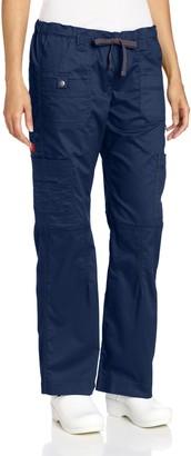 Dickies Scrubs Women's Gen Flex Junior Fit Contrast Stitch Cargo Pant