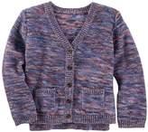 Osh Kosh Girls 4-8 Space-Dyed Knit Cardigan