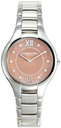Raymond Weil Noemia Diamond Mother-Of-Pearl Stainless Steel Bracelet Watch