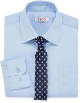 Izod Dress Shirt and Clip-On Tie Set - Boys 8-20