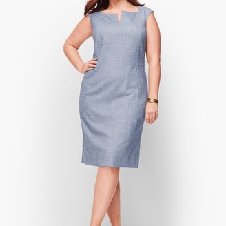 Talbots Sharkskin Sheath Dress