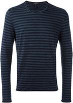 Roberto Collina long sleeve striped T-shirt - men - Linen/Flax/Elastodiene - 48