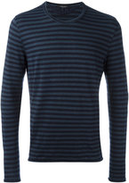 Roberto Collina long sleeve striped T-shirt - men - Linen/Flax/Elastodiene - 50