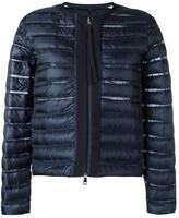 Moncler sheer panel padded jacket - women - Feather Down/Polyamide/Polyester - 0