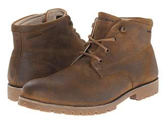 Wolverine Heritage Cort Waterproof Leather Chukka (Brown Leather) Men's Work Boots