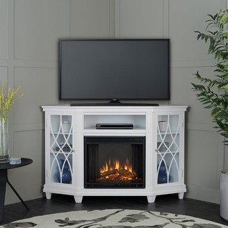 Real Flame Lynette Media Electric Fireplace White - 56.26L x 34.69W x 36.26H