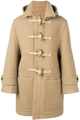 Ami Paris Patched Pockets Shearling-trimmed Duffle Coat